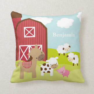 Cute Nursery Farm Animal Pillow