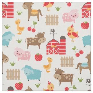 Cute Nursery Farm Animals Fabric