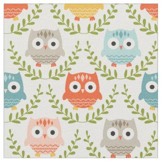Cute Nursery Owls Fabric