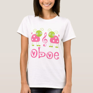Cute Oboe Pink Ladybugs T-Shirt
