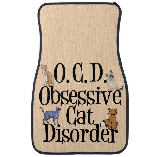 Cute Obsessive Cat Disorder Car Mat