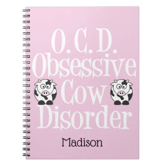 Cute Obsessive Cow Disorder Notebook