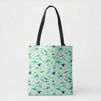 Cute Ocean Animal Tote Bag