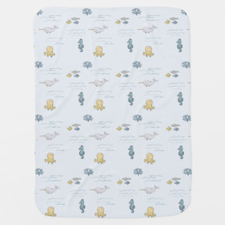 Cute ocean friends go snuggle your baby. baby blanket