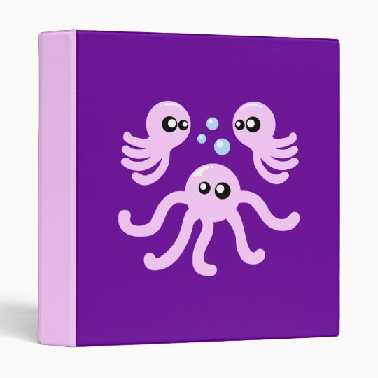 Cute Octopus Binder