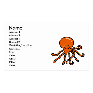 cute octopus Double-Sided standard business cards (Pack of 100)