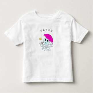 Cute Octopus Friends Personalized Kids Tee