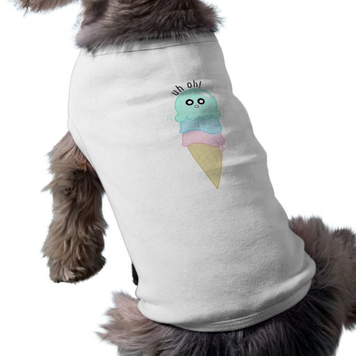 Cute Octopus Ice Cream Dog Tshirt
