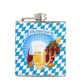 Cute Oktoberfest Beer Hound Flask