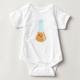 Cute orange alchemy kawaii flask baby bodysuit