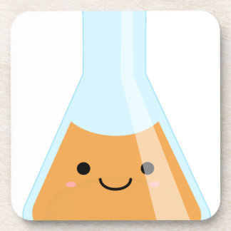 Cute orange alchemy kawaii flask coaster