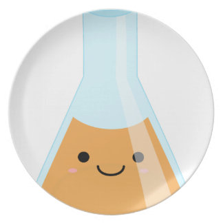 Cute orange alchemy kawaii flask plate