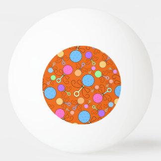 Cute orange baby rattle pattern ping pong ball