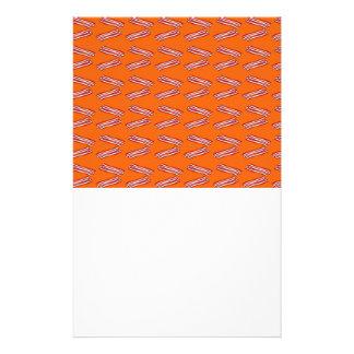 Cute orange bacon pattern customized stationery