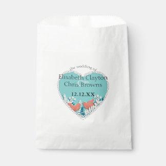 Cute orange birds origami cutout wedding favour bag