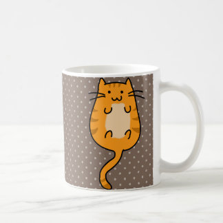 Cute Orange Cat Coffee Mug