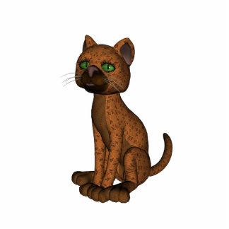 Cute Orange Cat Photo Sculpture Keychain