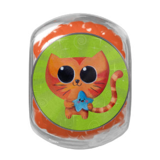 Cute Orange Cat with Star