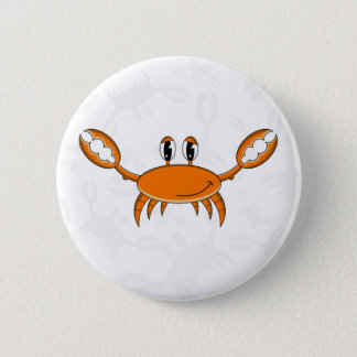 Cute Orange Crab Button Badge