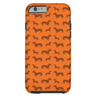 Cute orange dachshund pattern tough iPhone 6 case