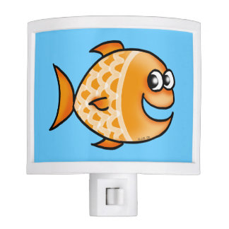 cute orange fish night lites