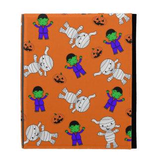 Cute orange Frankenstein mummy pumpkins iPad Cases