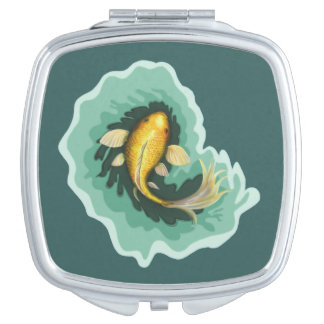 Cute Orange Koi Themed Compact Mirrors