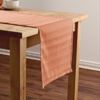 CUTE ORANGE RED WATERCOLOR STRAWBERRIES COLLECTION SHORT TABLE RUNNER