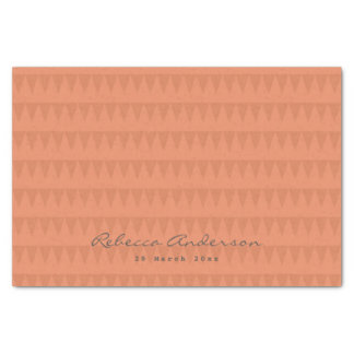 CUTE ORANGE RED WATERCOLOUR STRAWBERRIES COL. TISSUE PAPER