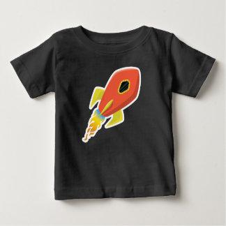 Cute Orange Rocket Ship T-Shirt  Baby Toddler Kids