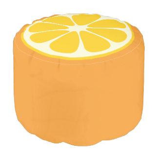 Cute Orange Slice Citrus Fruit Funny Foodie Fun Pouf