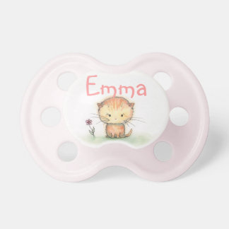 Cute Orange Tabby Kitten Custom Binky Pacifier