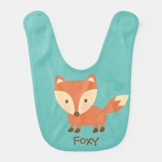 Cute Orange Woodland Fox For Babies Baby Bibs