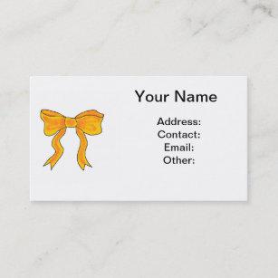 Cute bow business cards profile cards zazzle ca cute orange yellow bow business card colourmoves