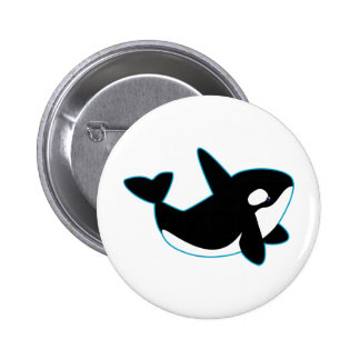 Cute Orca (Killer Whale) 2 Inch Round Button