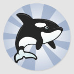 Cute Orca / Killer Whale Classic Round Sticker