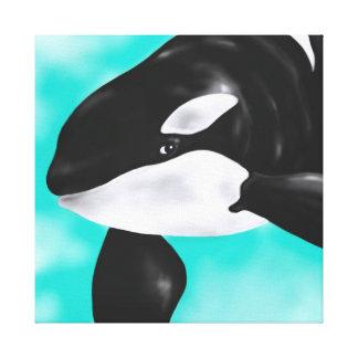 Cute Orca Whale Canvas Print