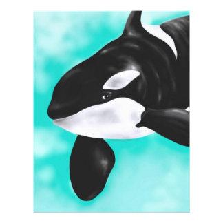 Cute Orca Whale Custom Letterhead