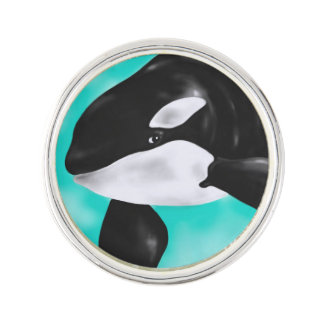 Cute Orca Whale Lapel Pin