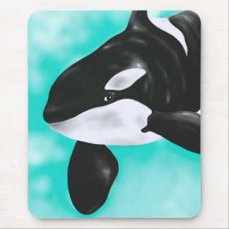 Cute Orca Whale Mouse Pad