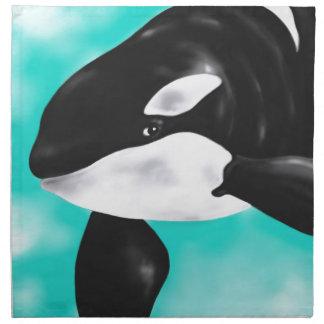 Cute Orca Whale Napkin