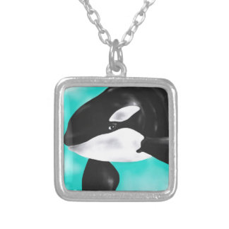 Cute Orca Whale Silver Plated Necklace