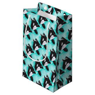 Cute Orca Whale Small Gift Bag