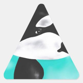 Cute Orca Whale Triangle Sticker