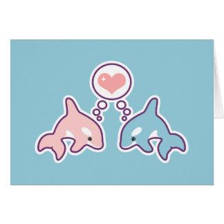 Cute Orca Whales Card