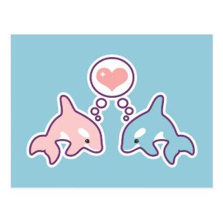 Cute Orca Whales Postcard