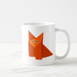 Cute Origami Fox Children's Coffee Mug