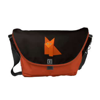 Cute Origami Fox Dark Commuter Bags