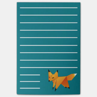 Cute Origami Fox Post-it Notes