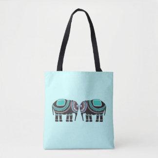 Cute Ornate Elephant Tote Bag